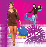 Ventes de mode Images stock