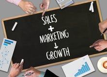 VENTES LANÇANT CONCECT sur le marché, tableau de bord Gra de ventes de vente de client photos stock
