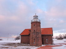 Ventes Ragas Cape in winter , Lithuania Stock Photo