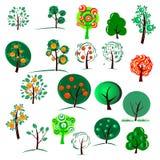 Venti alberi Fotografia Stock