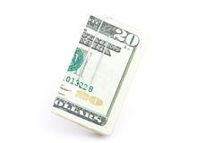 Venti dollari. Fotografie Stock