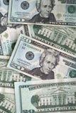 Venti fatture casuali del dollaro Immagini Stock