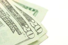 Venti fatture del dollaro. Fotografia Stock
