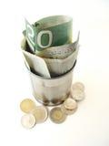 Venti fatture del dollaro dentro possono Fotografia Stock Libera da Diritti