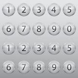 Venti icone di vetro Immagine Stock