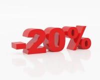 Venti per cento Immagine Stock