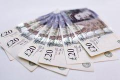 Venti una banconota (dalle 20) libbre Fotografie Stock Libere da Diritti