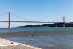 venticinquesima April Bridge, Lisbona, Portogallo Fotografia Stock