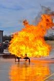 Ventil auf Feuer mit hohen Flammen Lizenzfreie Stockfotos