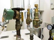 Ventil för säkerhet för ångagenerator arkivfoto