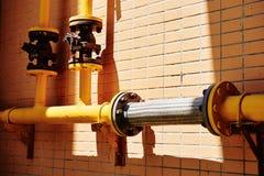 Ventil för naturgasrörledning Royaltyfria Foton