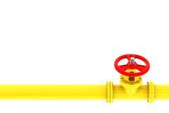 Ventil med gasledningen Royaltyfri Bild