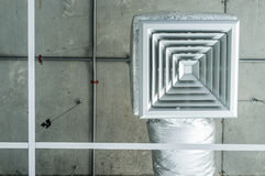 Ventilación cuadrada del aire de la parrilla Foto de archivo libre de regalías
