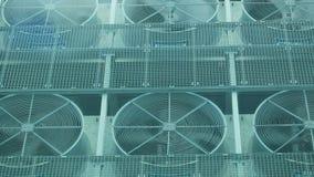 Ventilación en un tejado almacen de metraje de vídeo