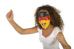 Ventilador alemão gritando Imagens de Stock