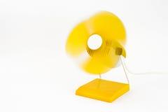 Ventilador amarillo Foto de archivo libre de regalías