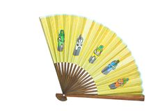 Ventilador asiático aislado en blanco Imágenes de archivo libres de regalías
