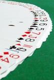Ventilador cara arriba de las tarjetas que juegan (2) Fotos de archivo