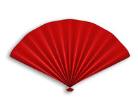 Ventilador chinês vermelho isolado Fotos de Stock Royalty Free