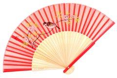 Ventilador chino de la mano Imagen de archivo libre de regalías