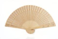 Ventilador chino de madera imagen de archivo