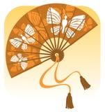 Ventilador com borboletas Imagem de Stock
