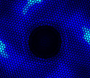 Ventilador conduzido azul foto de stock