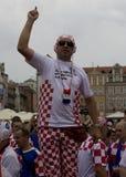Ventilador croata (Euro2012) Imagenes de archivo