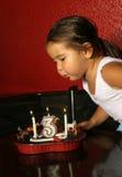 Ventilador da vela do aniversário Imagem de Stock Royalty Free