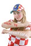 Ventilador de Croatia Fotografia de Stock