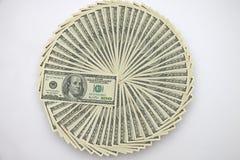 Ventilador de dólares Foto de archivo libre de regalías