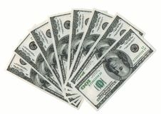 Ventilador de dólares americanos. XXXL Imagem de Stock