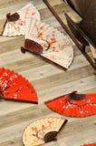 Ventilador de dobramento chinês Fotografia de Stock Royalty Free