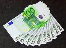 Ventilador de euro- notas de banco Imagens de Stock Royalty Free