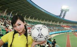 Ventilador de fútbol imagenes de archivo