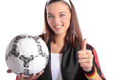 Ventilador de fútbol alemán atractivo Fotografía de archivo libre de regalías
