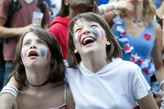 Ventilador de fútbol de Francia Foto de archivo libre de regalías