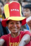 Ventilador de fútbol español Fotos de archivo libres de regalías