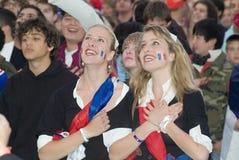Ventilador de fútbol francés Fotos de archivo