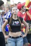 Ventilador de fútbol ruso Imagenes de archivo