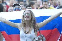 Ventilador de fútbol ruso Imagen de archivo libre de regalías