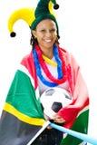 Ventilador de fútbol surafricano Imagenes de archivo