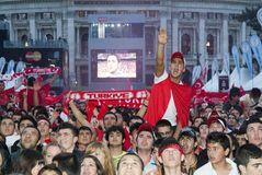 Ventilador de fútbol turco Fotografía de archivo
