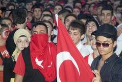 Ventilador de fútbol turco Fotos de archivo