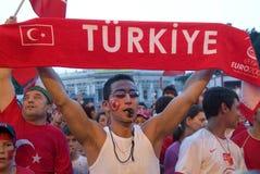 Ventilador de fútbol turco Imagen de archivo libre de regalías