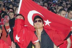 Ventilador de fútbol turco Imágenes de archivo libres de regalías