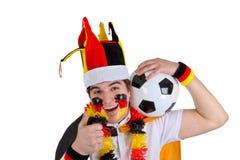 Ventilador de futebol fotografia de stock royalty free