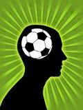 Ventilador de futebol Fotografia de Stock