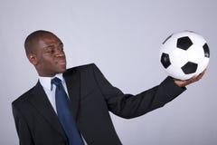 Ventilador de futebol africano Fotografia de Stock