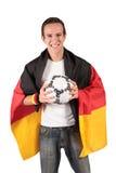 Ventilador de futebol alemão Foto de Stock Royalty Free